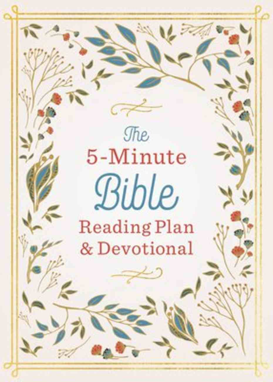 The 5-Minute Bible Reading Plan and Devotional Paperback