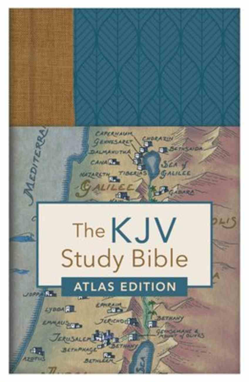 KJV Study Bible Atlas Edition Indexed Neutral (Red Letter Edition) Hardback