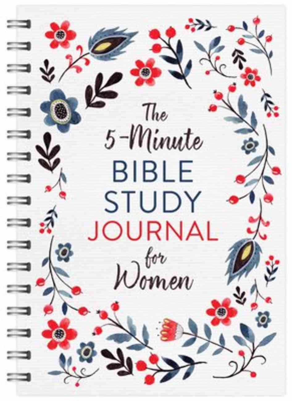 The 5-Minute Bible Study Journal For Women Spiral