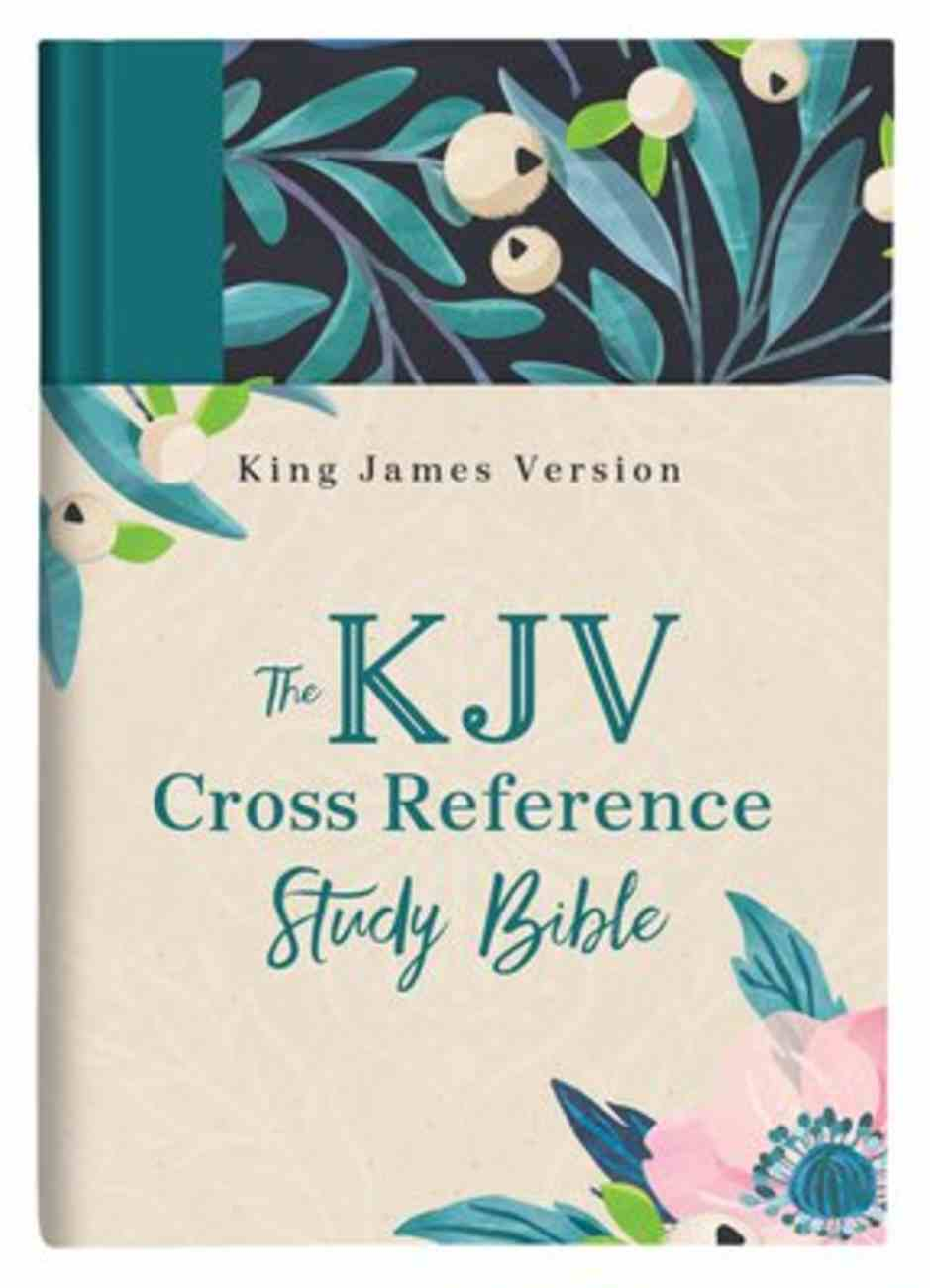 KJV Cross Reference Study Bible Women's Edition Turquoise Floral (Red Letter Edition) Hardback