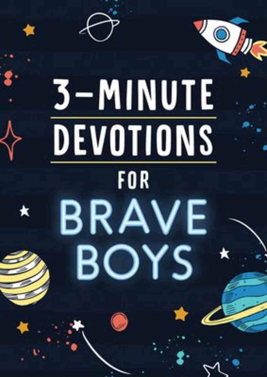 3-Minute Devotions For Brave Boys Paperback