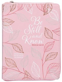 Product: 2021 18-month Planner: Be Still And Know (Faux Ziparound) Image