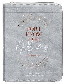 Product: 2021 18-month Planner: For I Know The Plans (Faux Ziparound) Image
