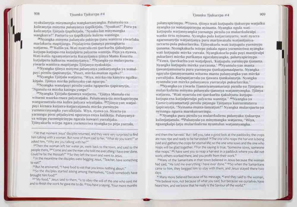 Ngaanyatjarra/English New Testament With Some Old Testament in Ngaanyatjarra Only Hardback