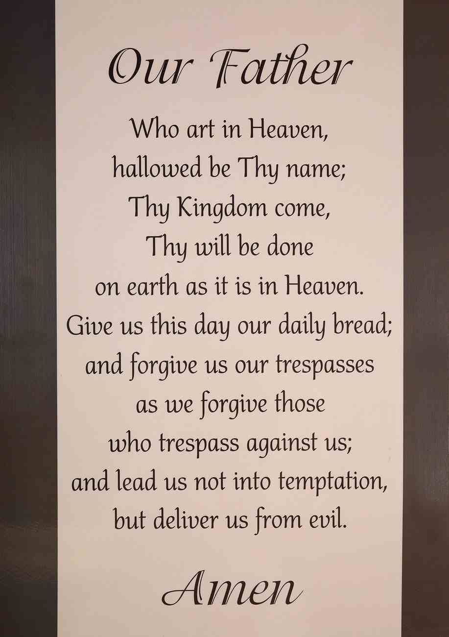Poster Large: Our Father... (The Lord's Prayer) Poster
