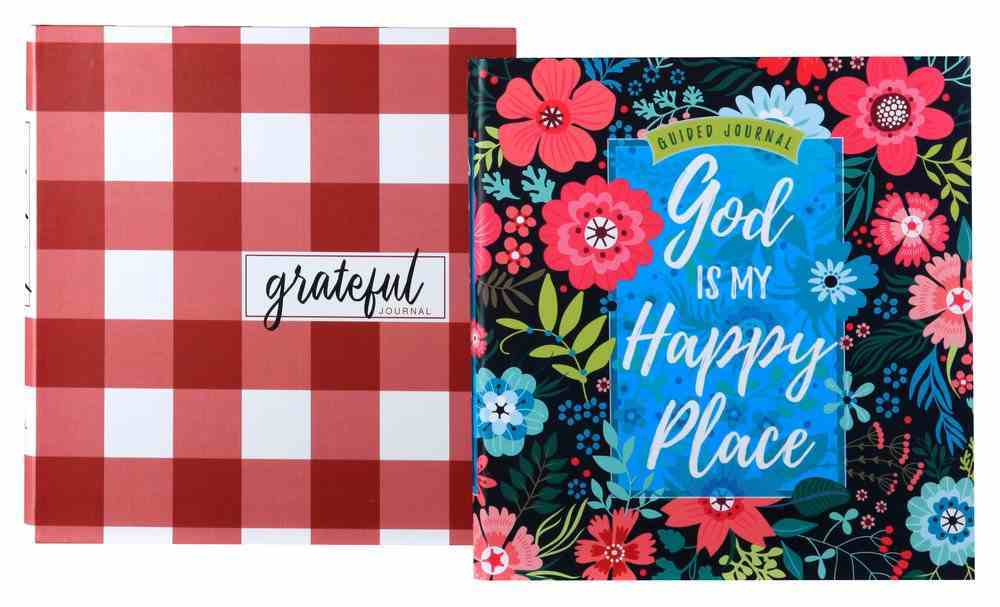 Guided Journal Two Pack: God is My Happy Place & Grateful Flexi Back