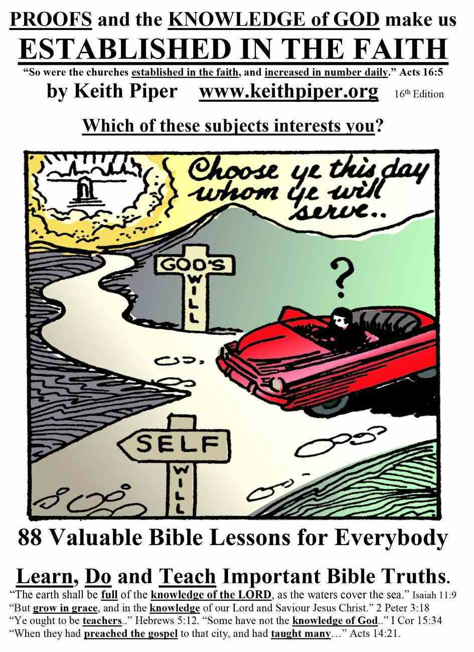 Established in the Faith: 88 Valuable Bible Lessons For Everybody (14th Edition) Paperback