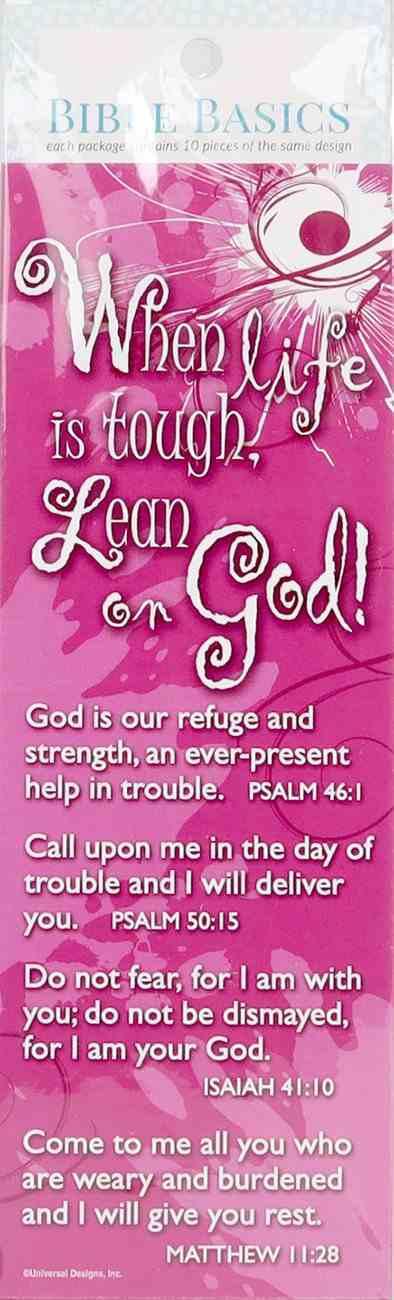 Life's Tough (10 Pack) (Bible Basics Bookmark Series) Stationery