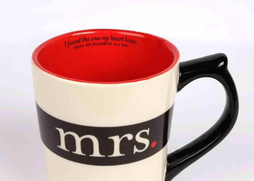 Classic Ceramic Mug: Mrs, (Song of Solomon 3:4 NIV) (White/black) Homeware