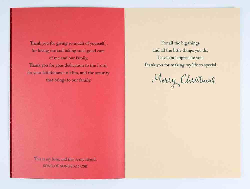 Christmas - Husband, Red Tartan Pattern Cards