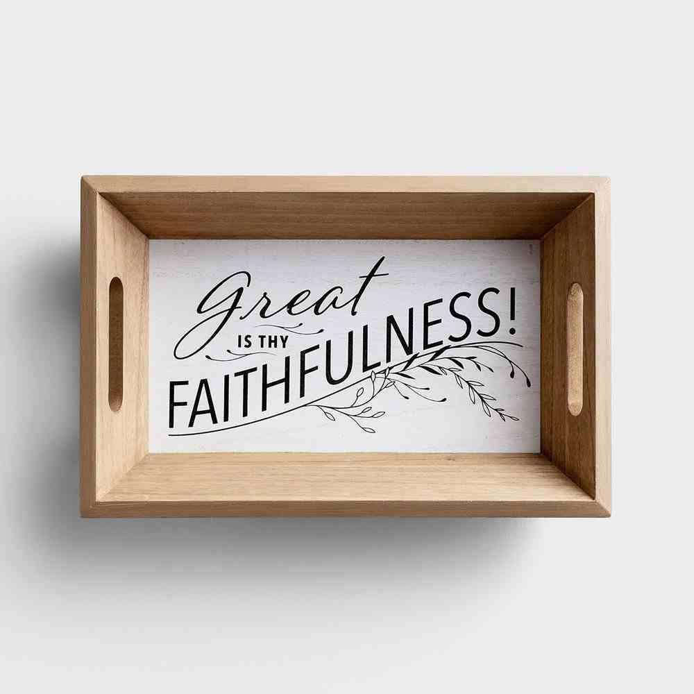 Wood Tray, Great is Thy Faithfulness! (Farm & Ranch Series) Homeware