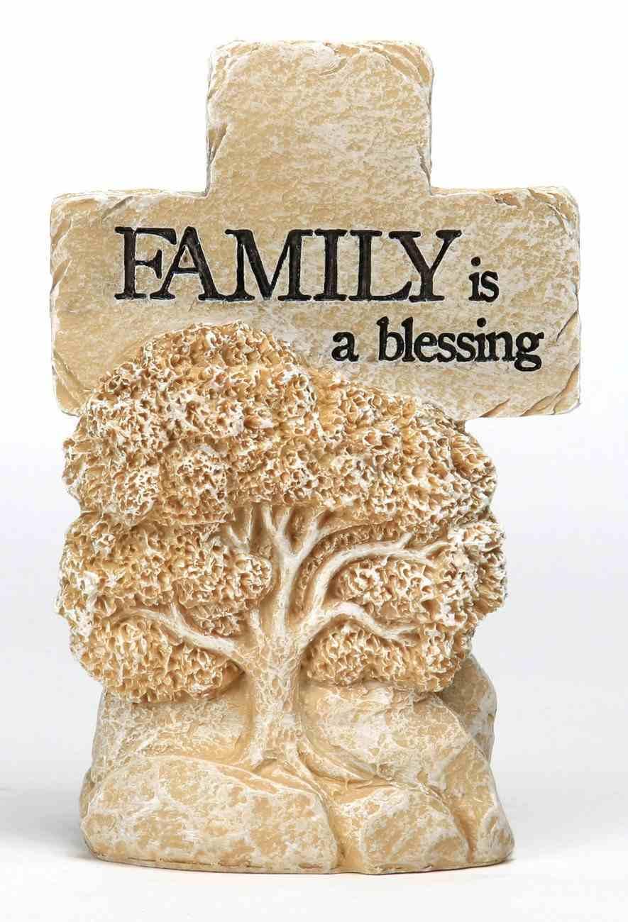 Cross: Pedestal- Family is a Blessing Homeware
