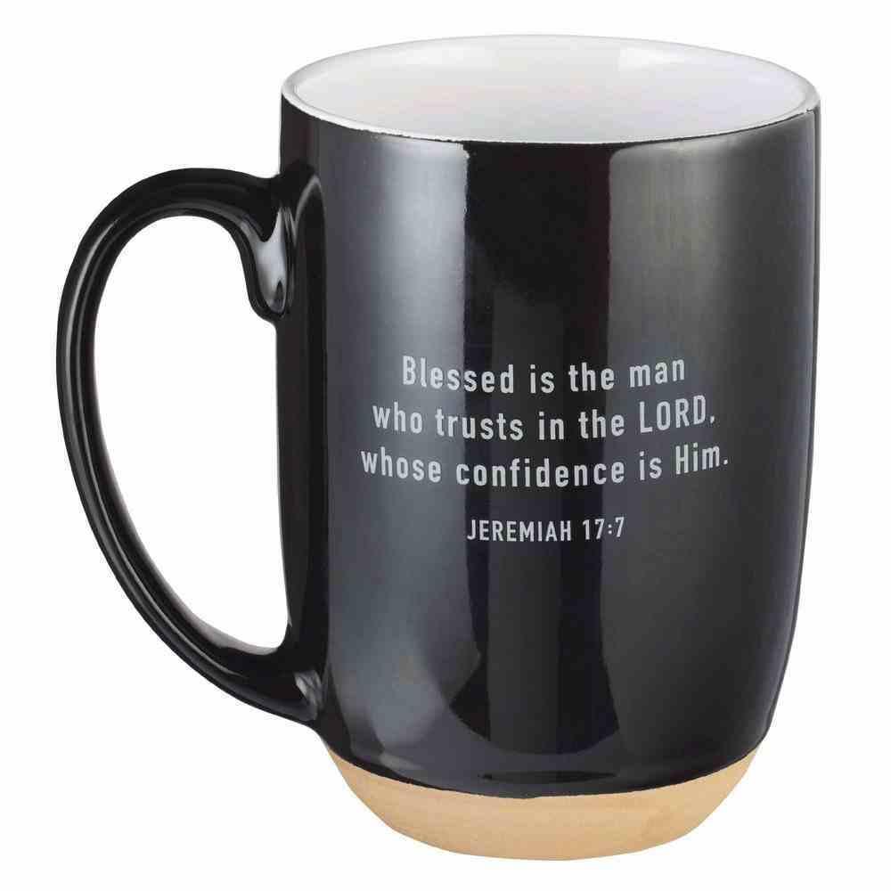 Cermaic Mug Blessed Man, Jer 17: 7, Black (444ml) (Blessed Man Collection) Homeware