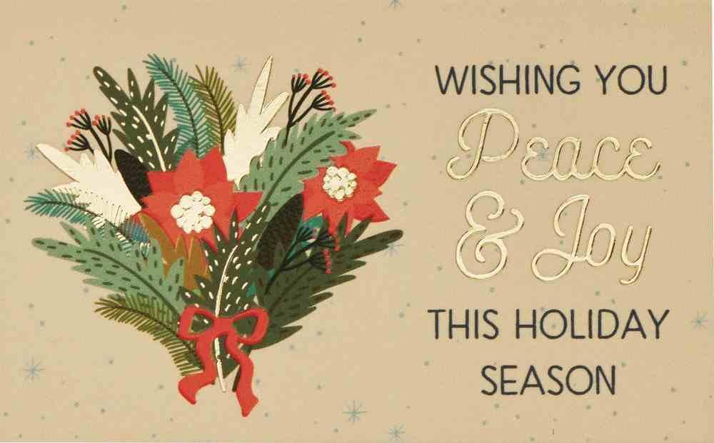 Wishing You Peace & Joy This Holiday Season (25 Pack) (Christmas Pass-around Cards Series) Cards