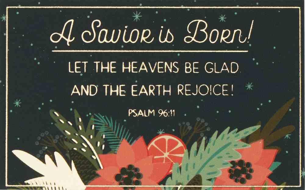 A Savior is Born! (25 Pack) (Christmas Pass-around Cards Series) Cards