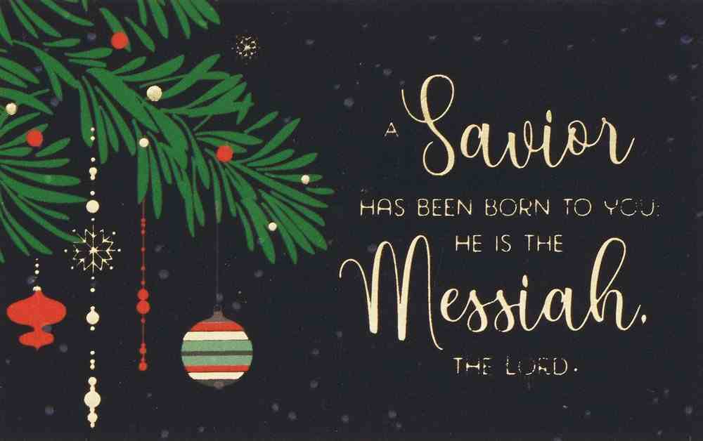 A Savior Has Been Born (25 Pack) (Christmas Pass-around Cards Series) Cards