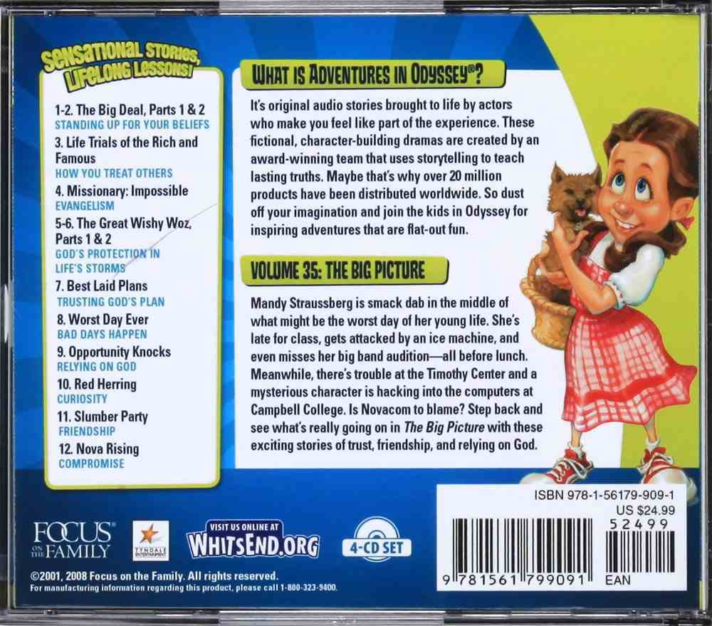 The Big Picture (#35 in Adventures In Odyssey Audio Series) CD