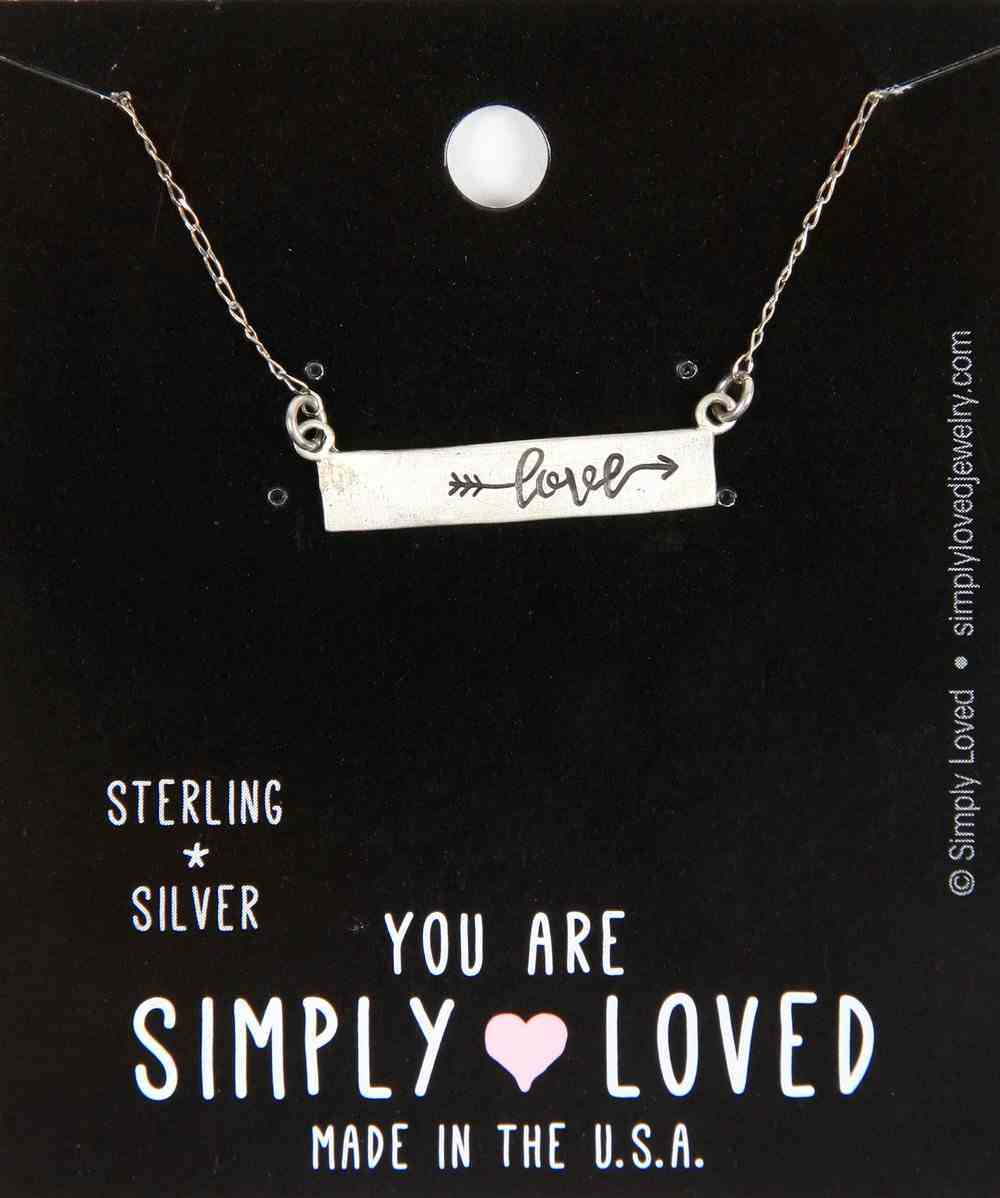 Simply Loved Necklace: Love Arrow Bar Sterling Silver, 45.72Cm Chain Jewellery