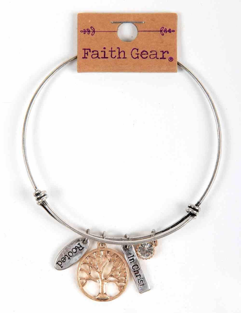 Women's Faith Gear Bracelet: Tree of Live, Silver Wire Jewellery