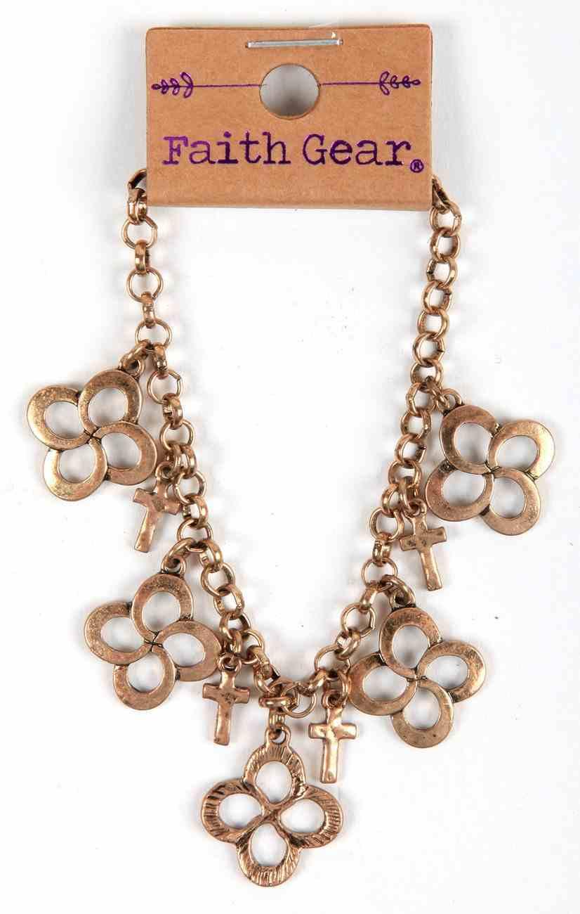 Women's Faith Gear Bracelet: Swirl Cross, Gold Jewellery
