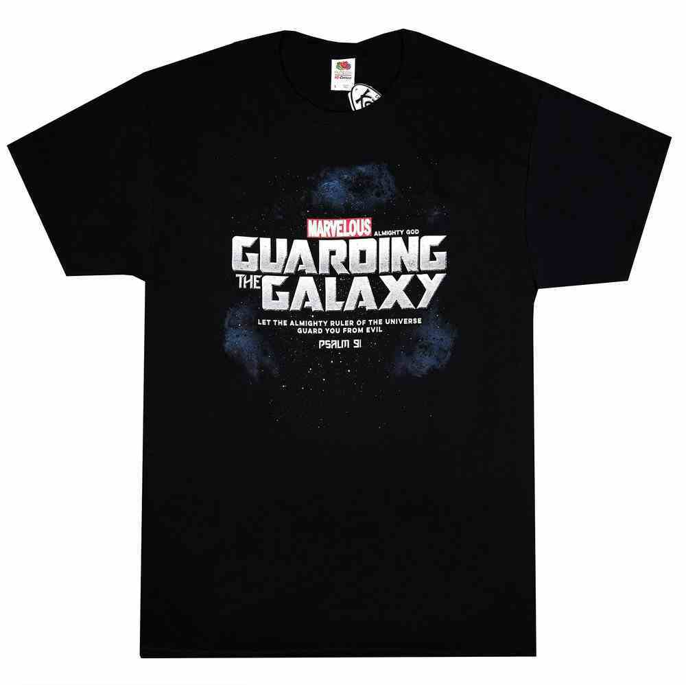 T-Shirt: Guarding the Galaxy, Small Black/Silver (Psalm 91) Soft Goods