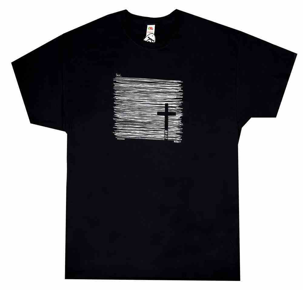 T-Shirt: Seek and You Will Find Large, Black (Matthew 7:7) Soft Goods