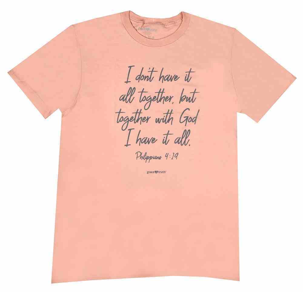 All Together, Medium, Dusty Rose (Philippians 4: 19) (Grace & Truth Womens T-shirts Series) Soft Goods