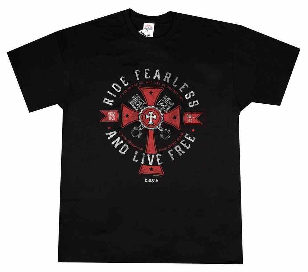 T-Shirt: Ride Fearless, Small, Black Soft Goods