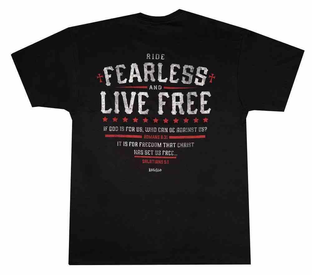 T-Shirt: Ride Fearless, Medium, Black Soft Goods