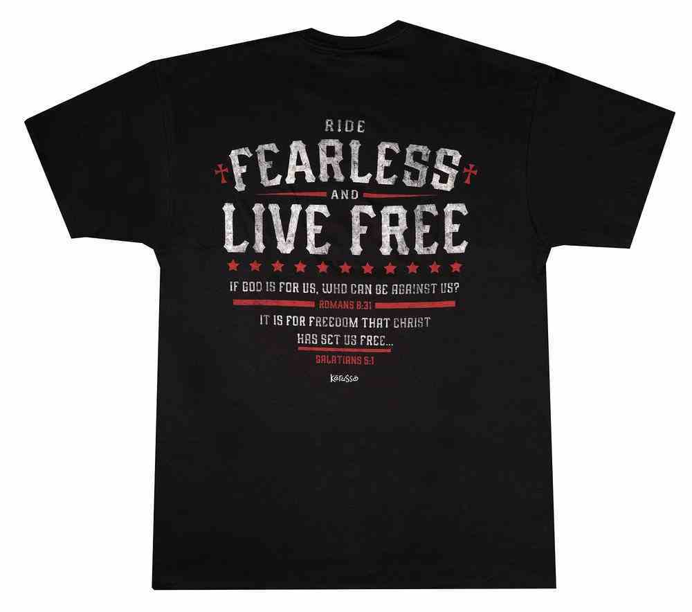 T-Shirt: Ride Fearless, 4xlarge, Black Soft Goods
