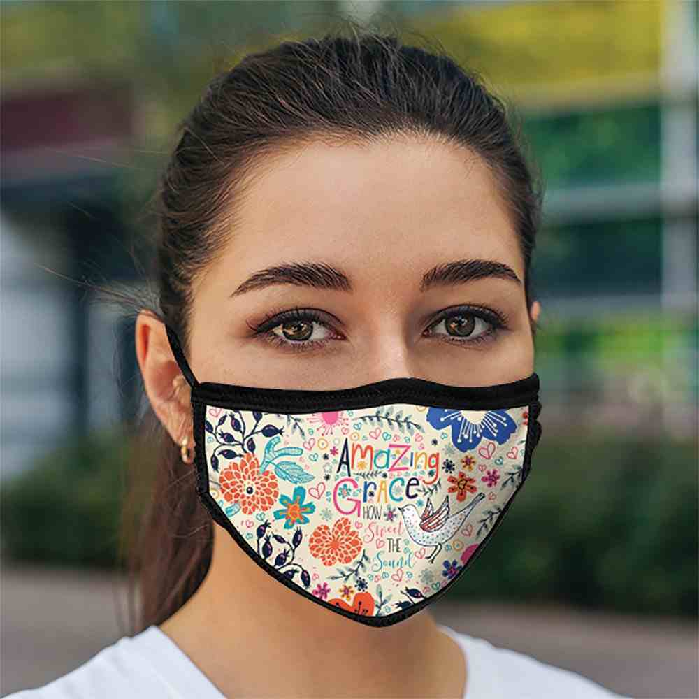 Face Mask: Amazing Grace, Lining 100% Ringspun Cotton, Outer 100% Polyester Soft Goods