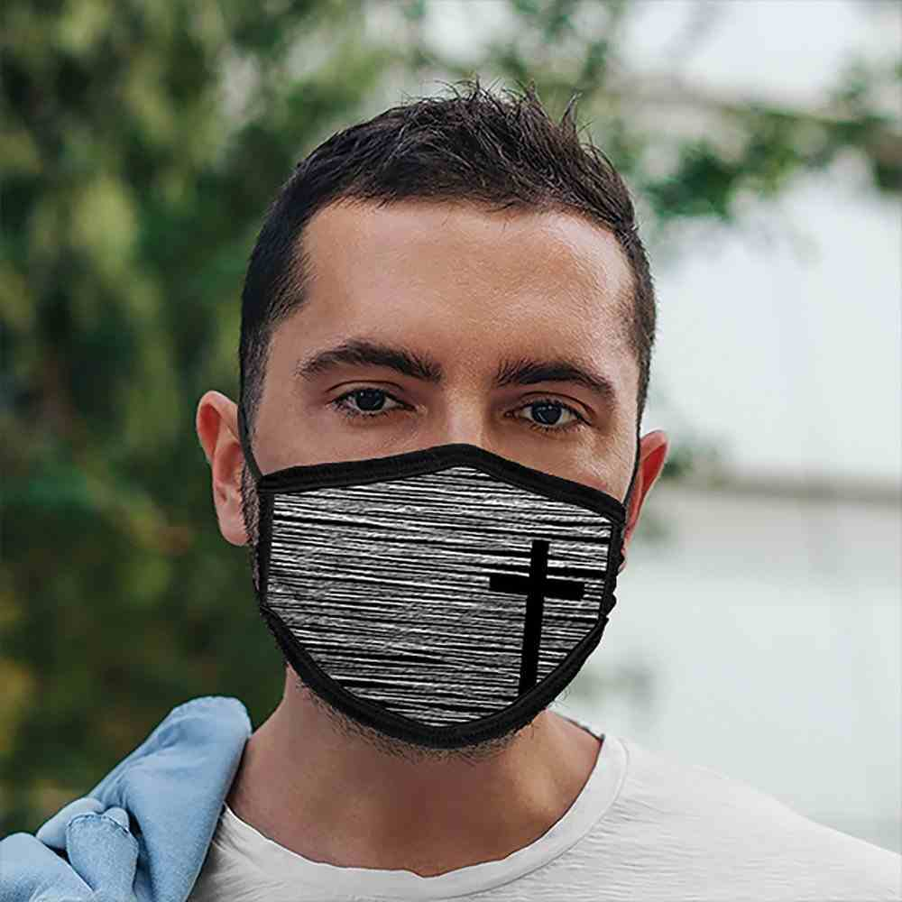 Face Mask: Cross, Lining 100% Ringspun Cotton, Outer 100% Polyester Soft Goods