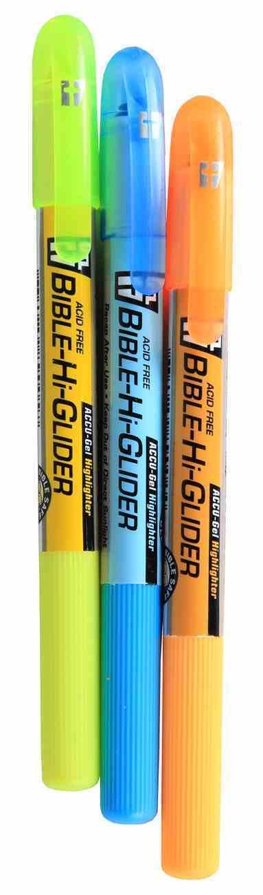 Accu-Gel Bible Hi Glider 3 Piece Study Kit: Yellow Blue & Orange Stationery