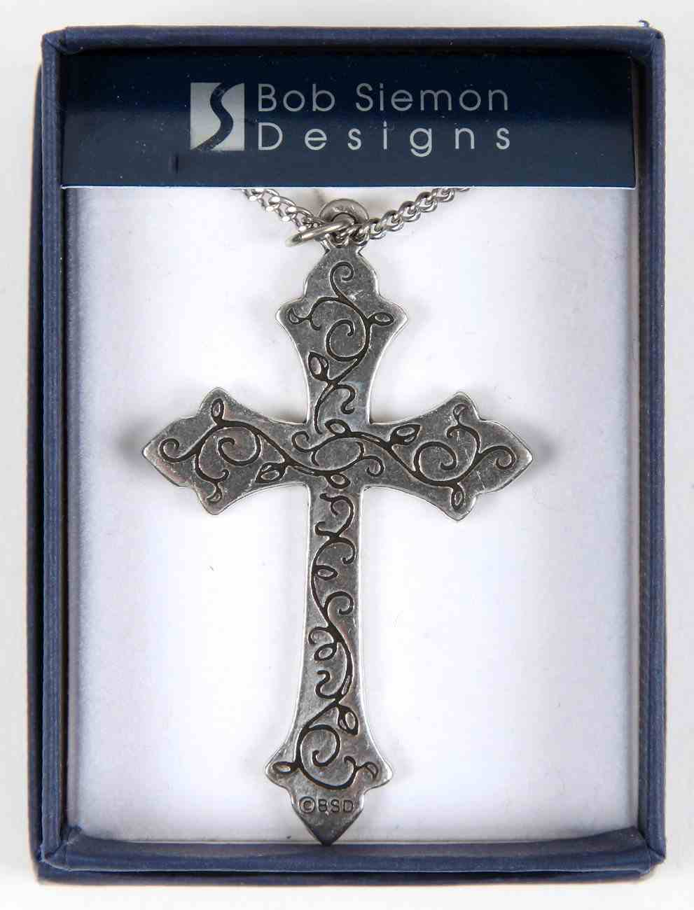 Pendant: Cross Vine (Pewter) Jewellery