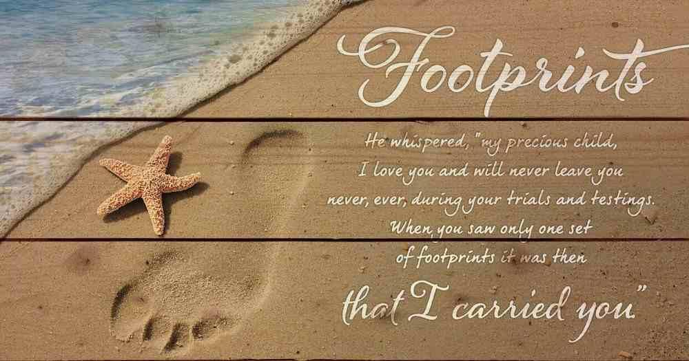 Panel Wall Art: Footprints Plaque