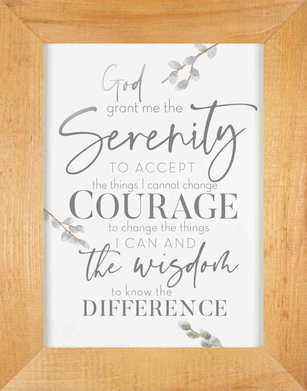 Framed Wall Art With Acrylic Insert: God Grant Me the Serenity Plaque