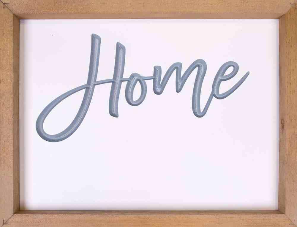 Carved Framed Sign: Home (Mdf/pine) Plaque