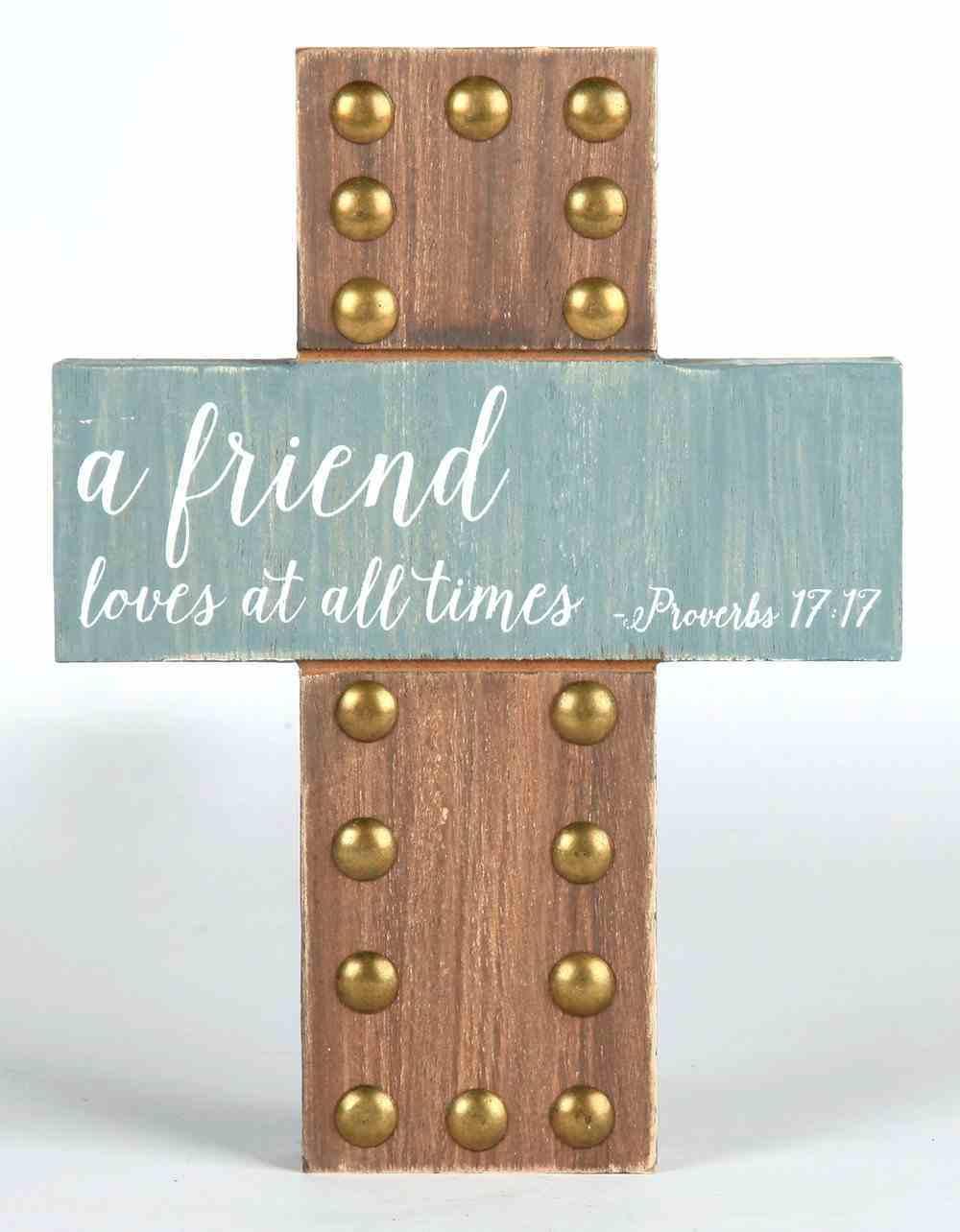 Emmaline Mdf Cross: Friends Homeware