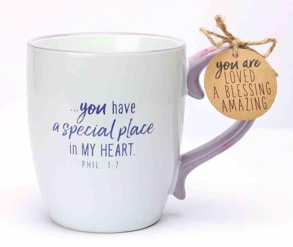 Ceramic Mug : Amazing Grandma (Phil 1:7) (503ml) (A Touch Of Floral Series) Homeware