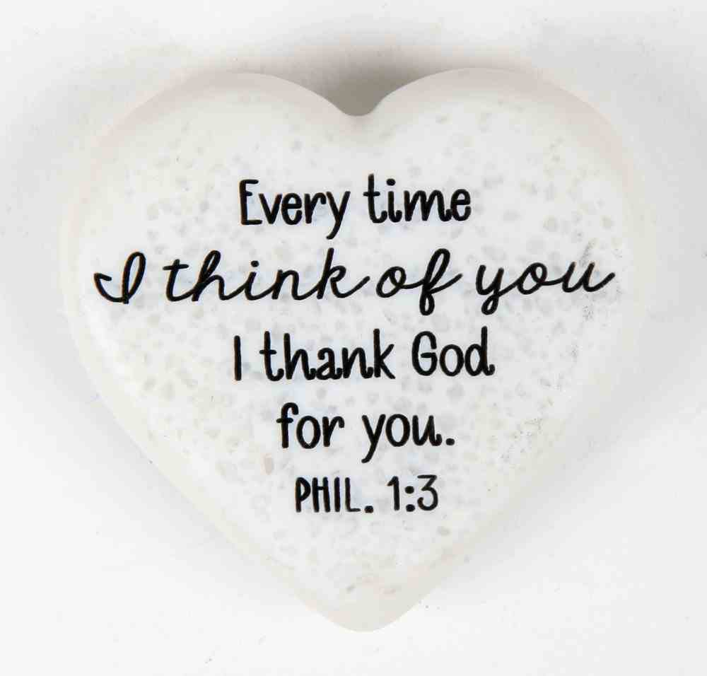 Plaque Scripture Stone: Hearts of Stone - Thankful (Phil 1:3) Plaque