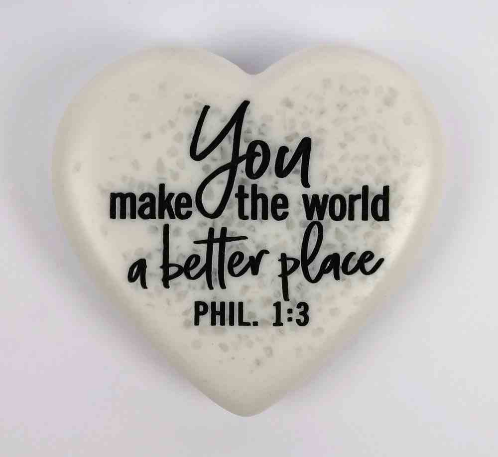 Stone Heart Plaque: A Better Place Engraved (Phil 1:3) Homeware