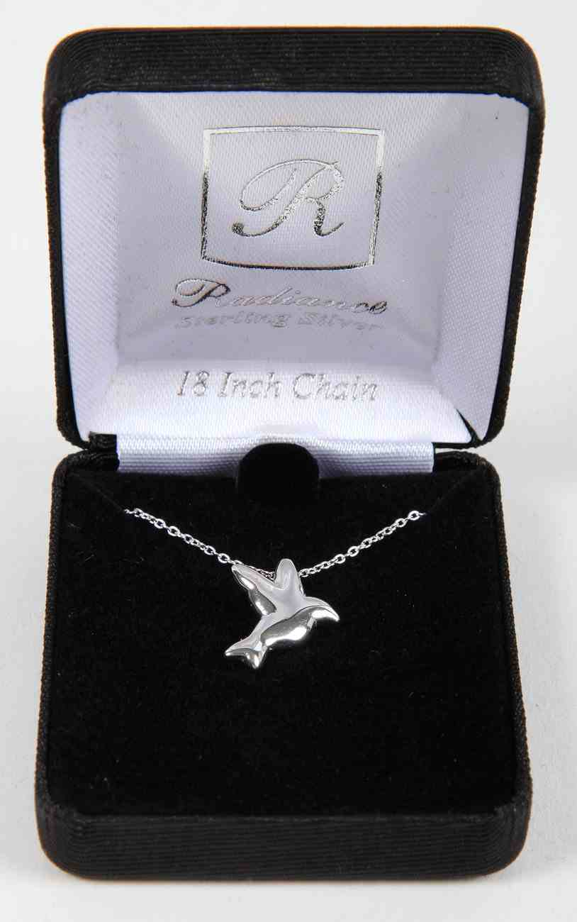 Necklace: Sterling Silver Dove Slide on 45Cm Sterling Silver Chain Jewellery