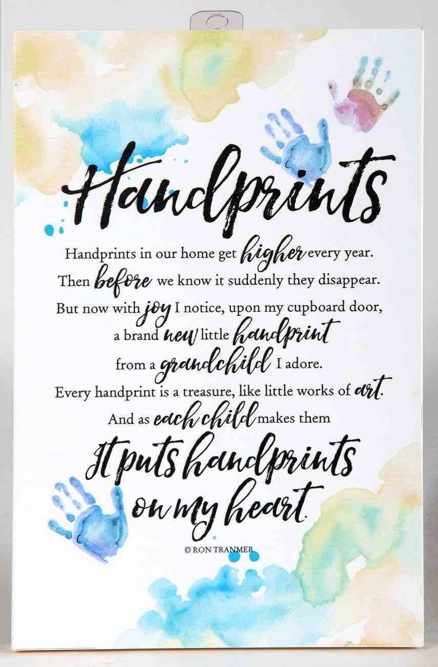 Woodland Grace Plaque: Handprints Plaque