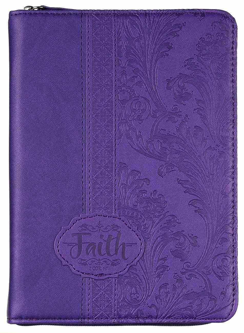 Journal Divine Details: Faith, Dark Purple, , Zippered Closure (2 Cor 5:7) Imitation Leather