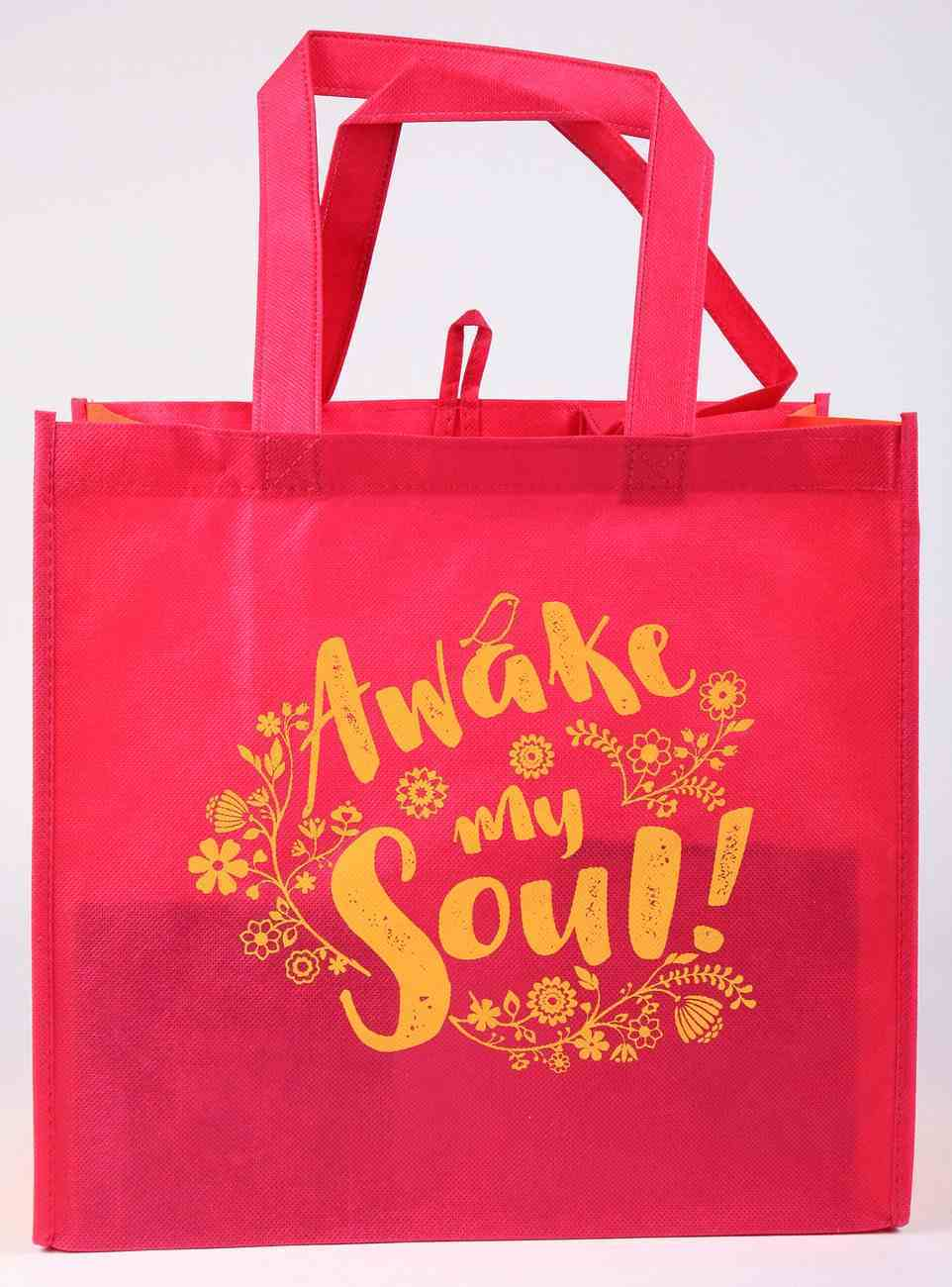 Tote Bag: Awake My Soul!, Red/Orange Soft Goods