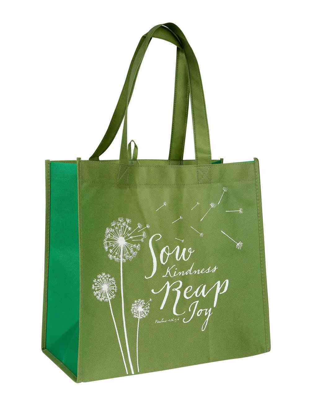 Tote Bag: Sow Kindness, Reaps Joy, Khaki/White Soft Goods