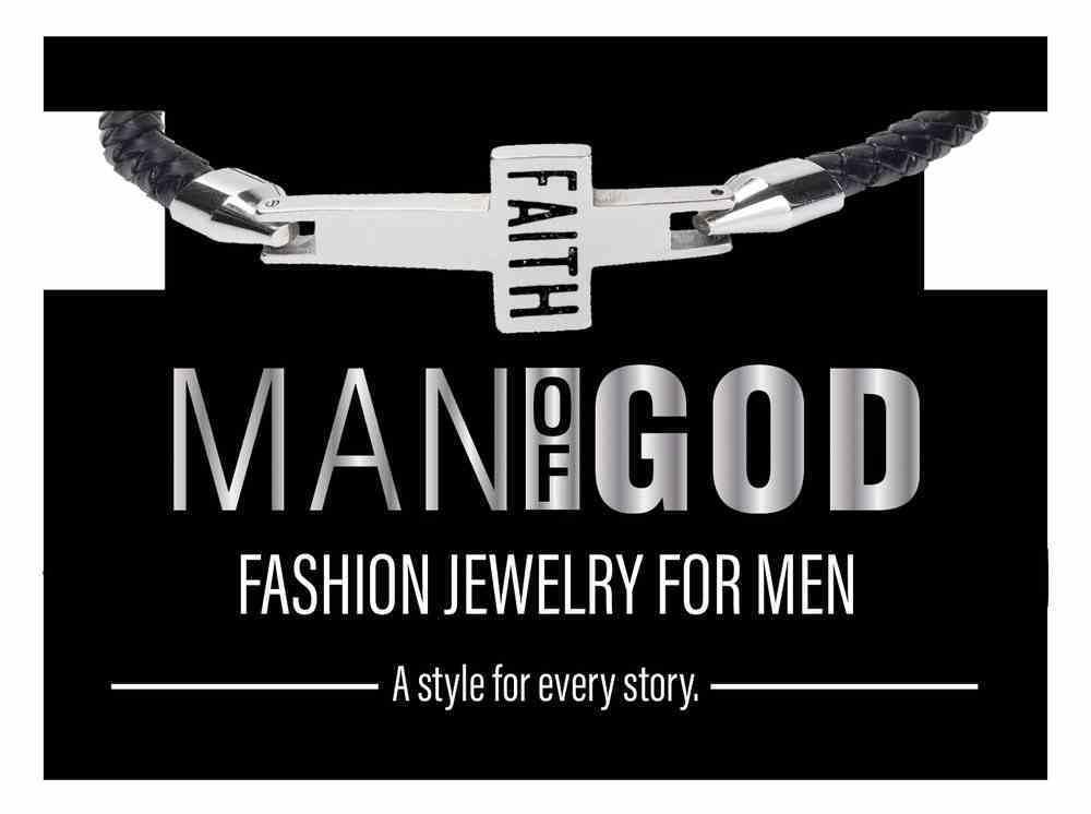 Mang: Man of God Bracelet, Faith Cross Leather Bracelet Jewellery