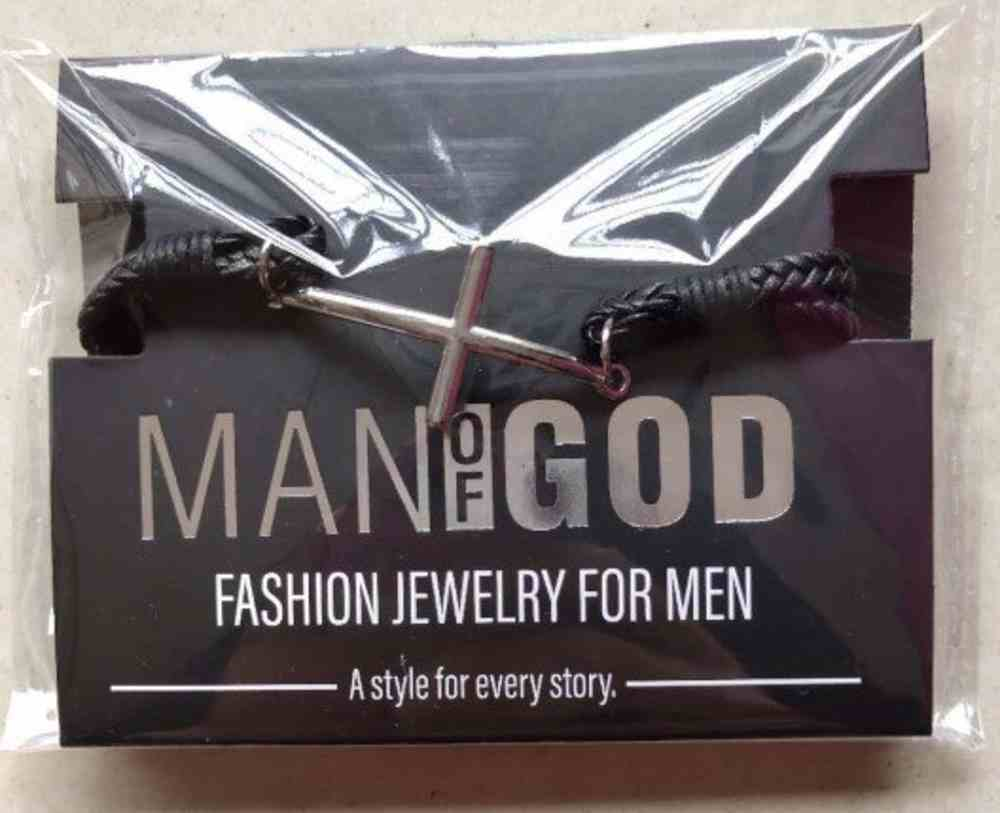 Mang: Man of God Bracelet, Cross Leather Bracelet Jewellery