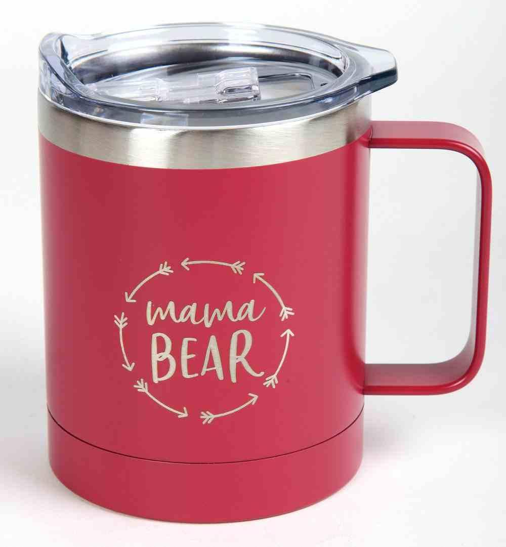Camp Style Stainless Steel Mug: Mama Bear (325ml) Homeware