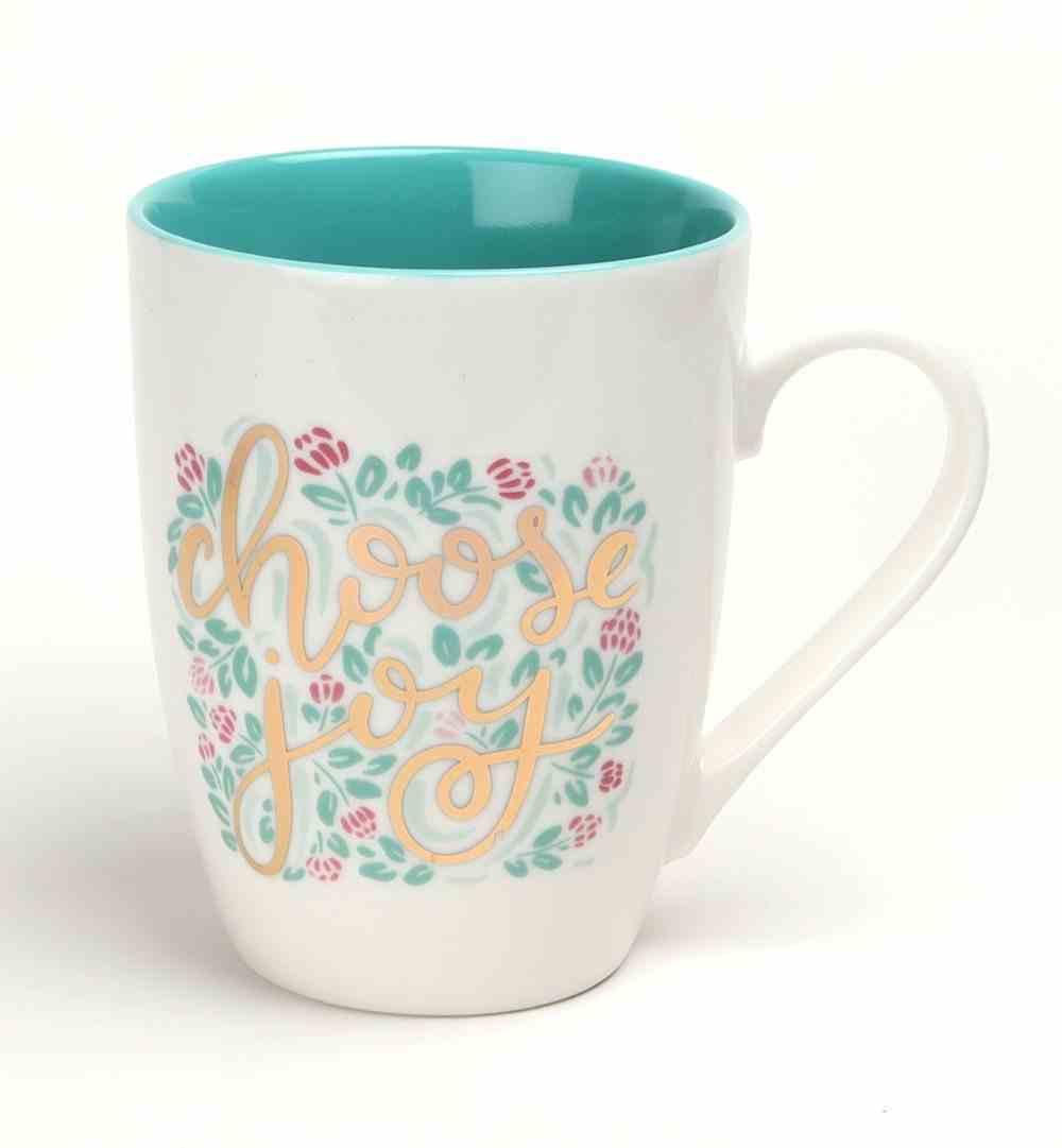 Ceramic Mug: Choose Joy, Teal Inside, Gold Foil Accents (335ml) Homeware